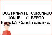 BUSTAMANTE CORONADO MANUEL ALBERTO Bogotá Cundinamarca