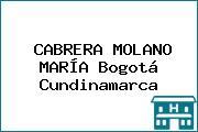 CABRERA MOLANO MARÍA Bogotá Cundinamarca