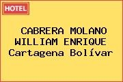 CABRERA MOLANO WILLIAM ENRIQUE Cartagena Bolívar