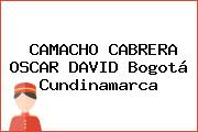 CAMACHO CABRERA OSCAR DAVID Bogotá Cundinamarca