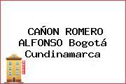CAÑON ROMERO ALFONSO Bogotá Cundinamarca