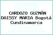 CARDOZO GUZMÁN DAISSY MARIA Bogotá Cundinamarca