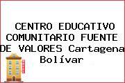 CENTRO EDUCATIVO COMUNITARIO FUENTE DE VALORES Cartagena Bolívar