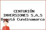 CENTURIÓN INVERSIONES S.A.S Bogotá Cundinamarca
