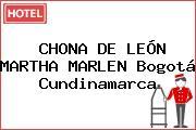 CHONA DE LEÓN MARTHA MARLEN Bogotá Cundinamarca