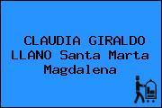 CLAUDIA GIRALDO LLANO Santa Marta Magdalena