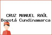 CRUZ MANUEL RAÚL Bogotá Cundinamarca