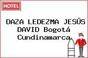 DAZA LEDEZMA JESÚS DAVID Bogotá Cundinamarca