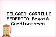 DELGADO CARRILLO FEDERICO Bogotá Cundinamarca
