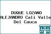 DUQUE LOZANO ALEJANDRO Cali Valle Del Cauca