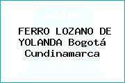 FERRO LOZANO DE YOLANDA Bogotá Cundinamarca