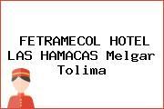 FETRAMECOL HOTEL LAS HAMACAS Melgar Tolima