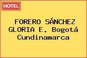 FORERO SÁNCHEZ GLORIA E. Bogotá Cundinamarca
