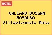 GALEANO DUSSAN ROSALBA Villavicencio Meta