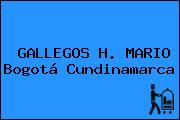 GALLEGOS H. MARIO Bogotá Cundinamarca