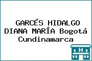 GARCÉS HIDALGO DIANA MARÍA Bogotá Cundinamarca