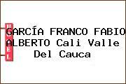 GARCÍA FRANCO FABIO ALBERTO Cali Valle Del Cauca