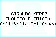 GIRALDO YEPEZ CLAUDIA PATRICIA Cali Valle Del Cauca