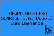 GRUPO HOTELERO SUNRISE S.A. Bogotá Cundinamarca