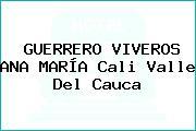 GUERRERO VIVEROS ANA MARÍA Cali Valle Del Cauca