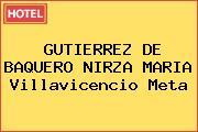 GUTIERREZ DE BAQUERO NIRZA MARIA Villavicencio Meta