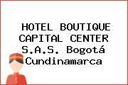HOTEL BOUTIQUE CAPITAL CENTER S.A.S. Bogotá Cundinamarca