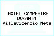 HOTEL CAMPESTRE DURANTA Villavicencio Meta