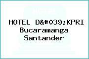 HOTEL D'KPRI Bucaramanga Santander