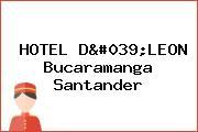 HOTEL D'LEON Bucaramanga Santander