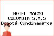 HOTEL MACAO COLOMBIA S.A.S Bogotá Cundinamarca