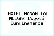 HOTEL MANANTIAL MELGAR Bogotá Cundinamarca