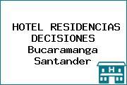 HOTEL RESIDENCIAS DECISIONES Bucaramanga Santander