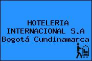 HOTELERIA INTERNACIONAL S.A Bogotá Cundinamarca