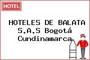 HOTELES DE BALATA S.A.S Bogotá Cundinamarca