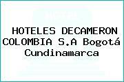 HOTELES DECAMERON COLOMBIA S.A Bogotá Cundinamarca