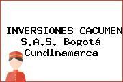 INVERSIONES CACUMEN S.A.S. Bogotá Cundinamarca