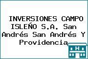 INVERSIONES CAMPO ISLEÑO S.A. San Andrés San Andrés Y Providencia