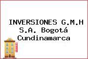 INVERSIONES G.M.H S.A. Bogotá Cundinamarca