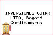 INVERSIONES GUIAR LTDA. Bogotá Cundinamarca