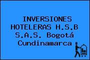 INVERSIONES HOTELERAS H.S.B S.A.S. Bogotá Cundinamarca