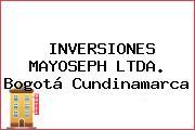 INVERSIONES MAYOSEPH LTDA. Bogotá Cundinamarca