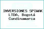 INVERSIONES SPIWAK LTDA. Bogotá Cundinamarca