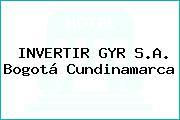 INVERTIR GYR S.A. Bogotá Cundinamarca