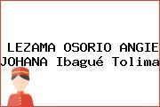 LEZAMA OSORIO ANGIE JOHANA Ibagué Tolima