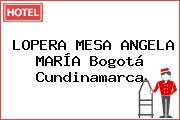 LOPERA MESA ANGELA MARÍA Bogotá Cundinamarca