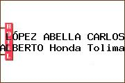 LÓPEZ ABELLA CARLOS ALBERTO Honda Tolima