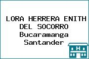 LORA HERRERA ENITH DEL SOCORRO Bucaramanga Santander