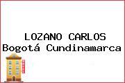LOZANO CARLOS Bogotá Cundinamarca