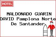 MALDONADO GUARIN DAVID Pamplona Norte De Santander