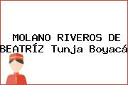 MOLANO RIVEROS DE BEATRÍZ Tunja Boyacá